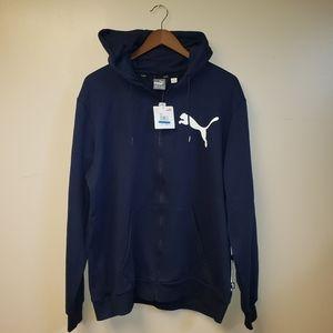 Men's XL Puma Zip Up Hooded Lightweight Jacket